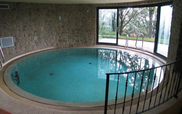 Круглый панельный бассейн с отделкой пленкой ПВХ