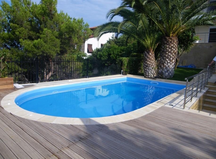 бассейн стандарт с закруглением